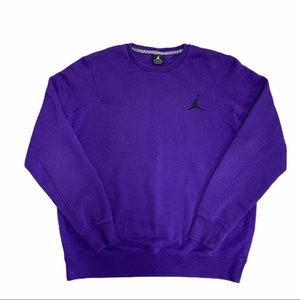 Men's Air Jordan Long Sleeve Purple Jumpman Crew